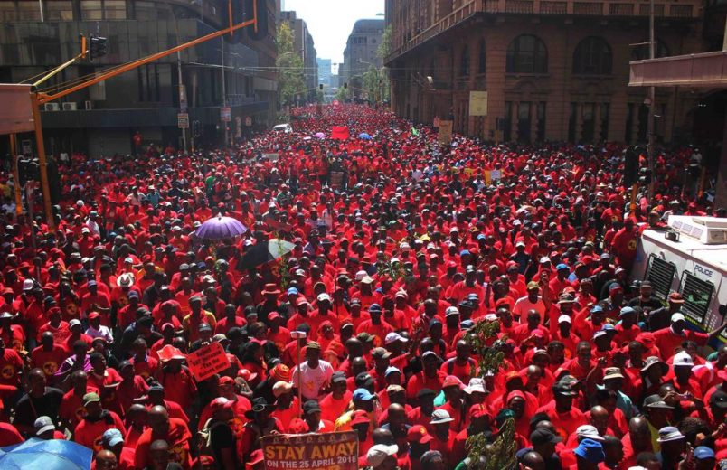 Thousands march in South Africa's nationwide union strike