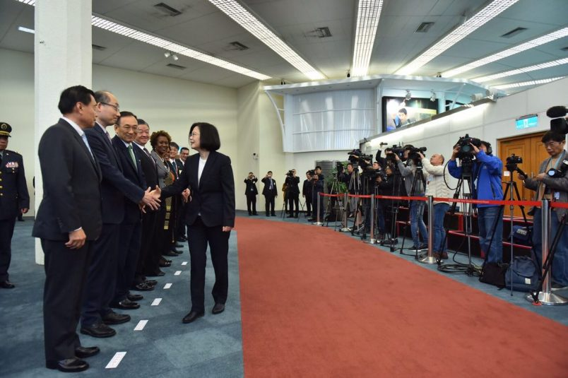 Taiwan's leader arrives for controversial Swaziland visit