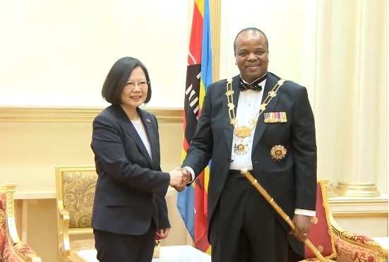 Taiwan welcomes eSwatini leader, the last remaining African diplomatic ally