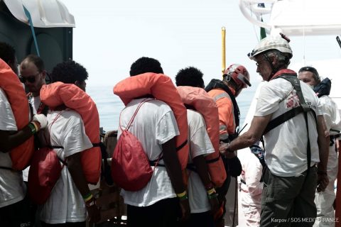 Migrant ship Aquarius en route to Spain