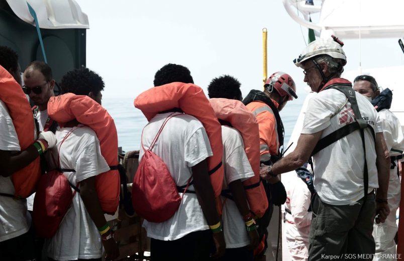 Migrant ship Aquarius en route to Spain