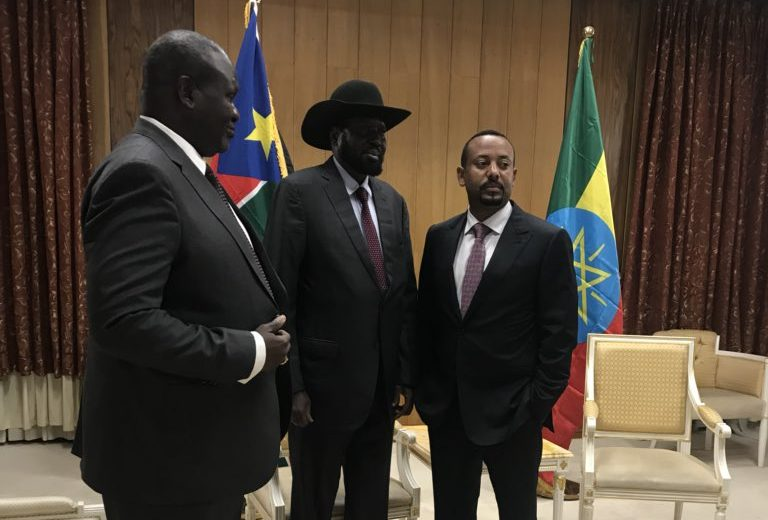 IGAD leaders head to Ethiopia as Kiir, Machar meet face to face