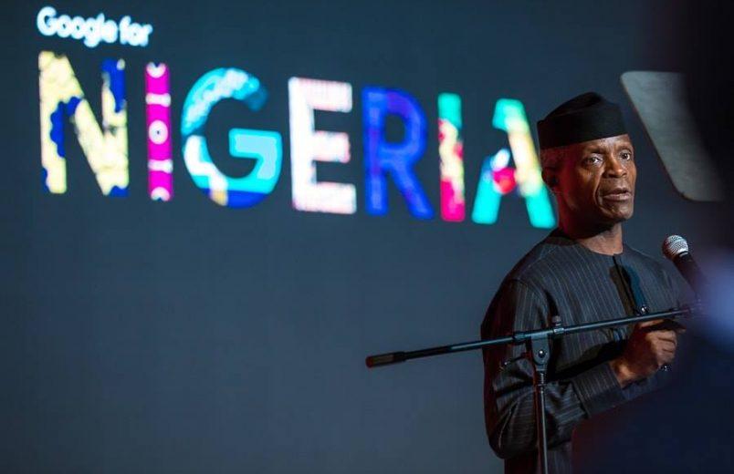 Osinbajo touts tech at Google for Nigeria