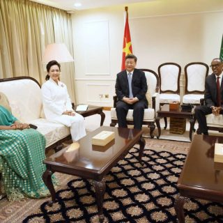 Chinese president arrives in Rwanda