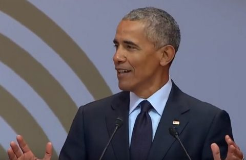 Obama speaks on Mandela, as much the message as the messenger