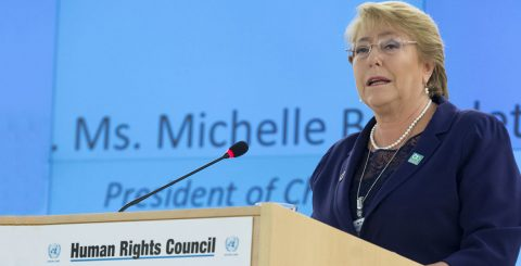 UN formally appoints Bachelet as new human rights chief