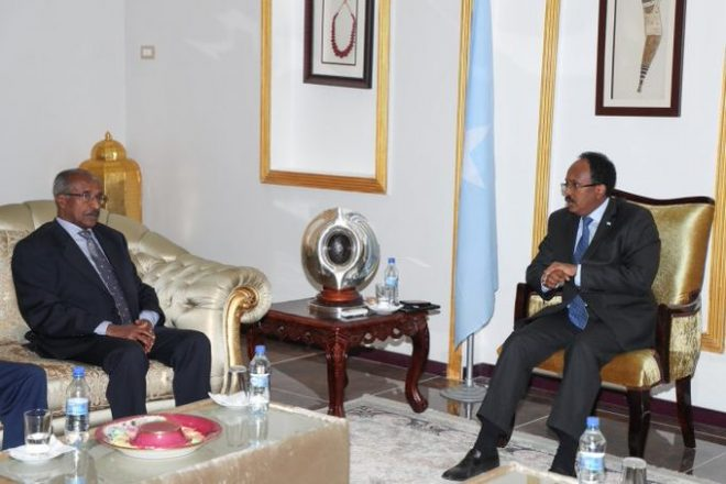Eritrean delegation meets with Somali president