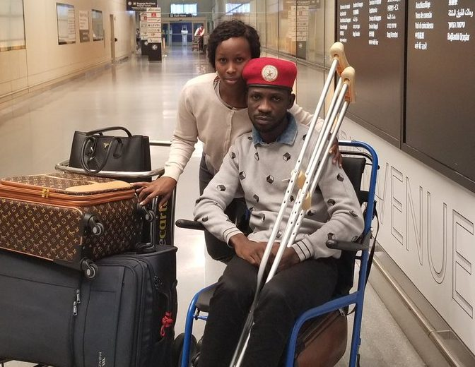 Uganda's Bobi Wine arrives in U.S. for treatment