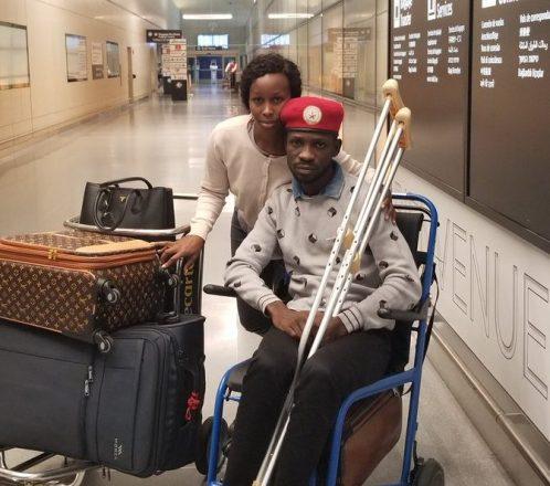 Uganda's Bobi Wine arrives in U.S. for treatment