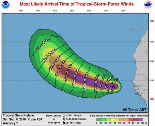 Stronger TS Helene brings rain to drought-stricken Cabo Verde