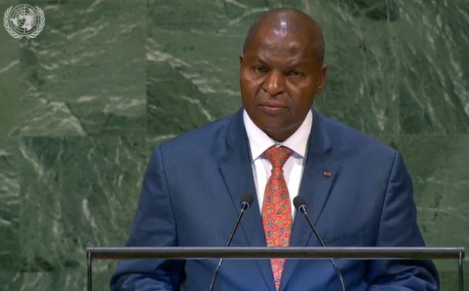 UNGA: Touadéra appeals for an end to C.A.R. arms embargo