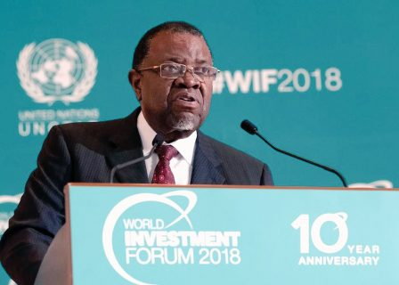 Namibia's Geingob appeals for FDI in Africa, defends China's role