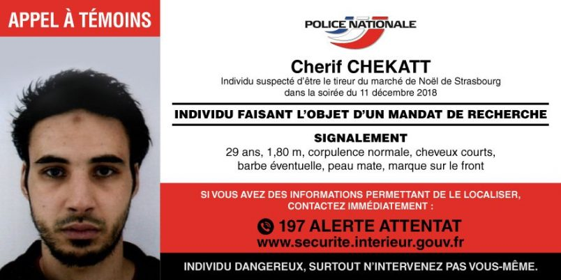 French police search for Strasbourg attack suspect