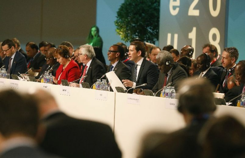 AU leaders, EU press for partnership in Vienna