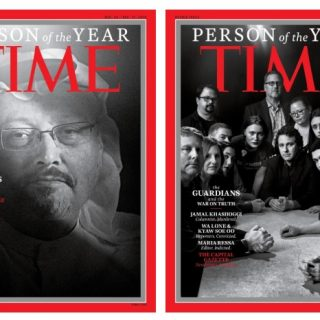 "Time Magazine names journalists as the 2018 ""Person of the Year"""