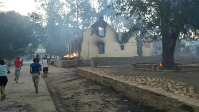 Historic South African town destroyed by fire