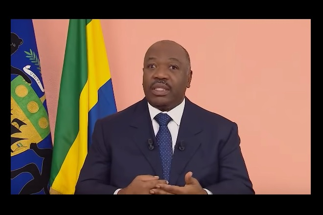 Gabon's Bongo sends New Year message from Morocco