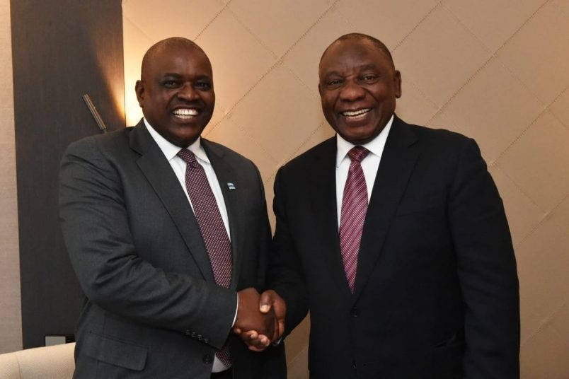 Masisi returns from Botswana's first-ever trip to Davos