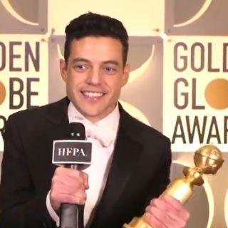 Malek wins Golden Globe best actor for 'Bohemian Rhapsody'