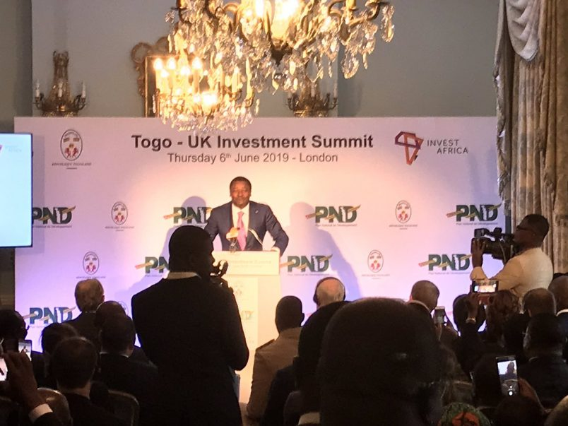 In the UK, Togo's Gnassingbé makes case for investment