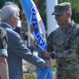 AFRICOM welcomes new command as Waldhauser set to retire