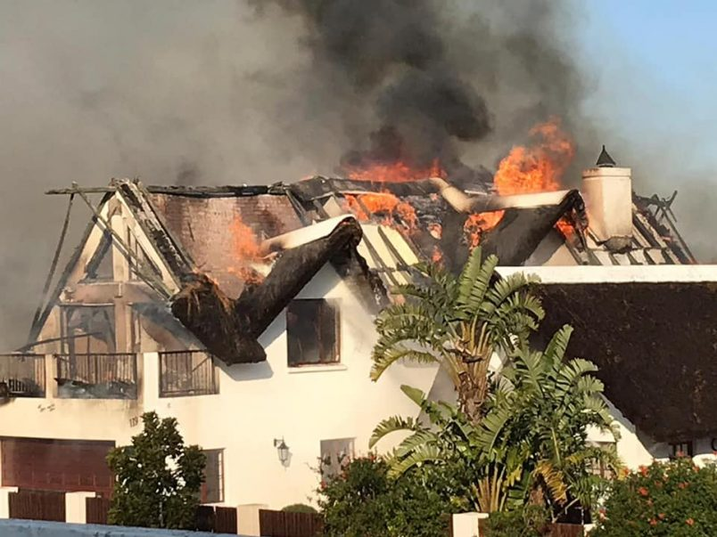 SA blaze claims a dozen homes in resort town