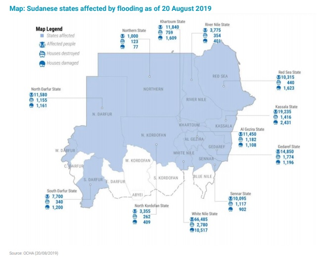 Floods in Sudan kill at least 54 people
