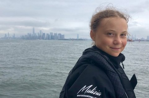 Greta Thunberg completes sea journey to attend UN climate summit