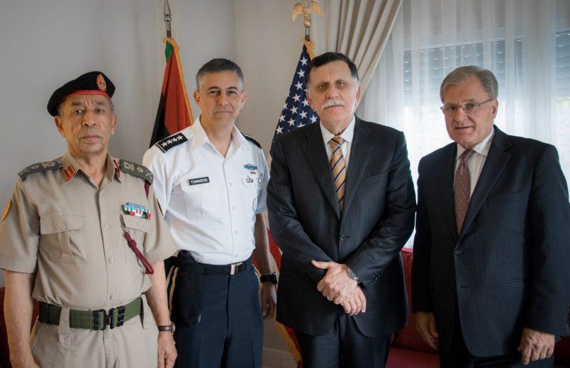 New AFRICOM head meets with Libya's Sarraj in Tunis
