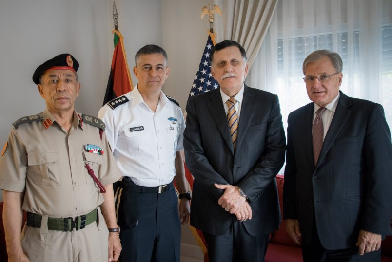 New AFRICOM head meets with Libya's Sarraj in Tunis
