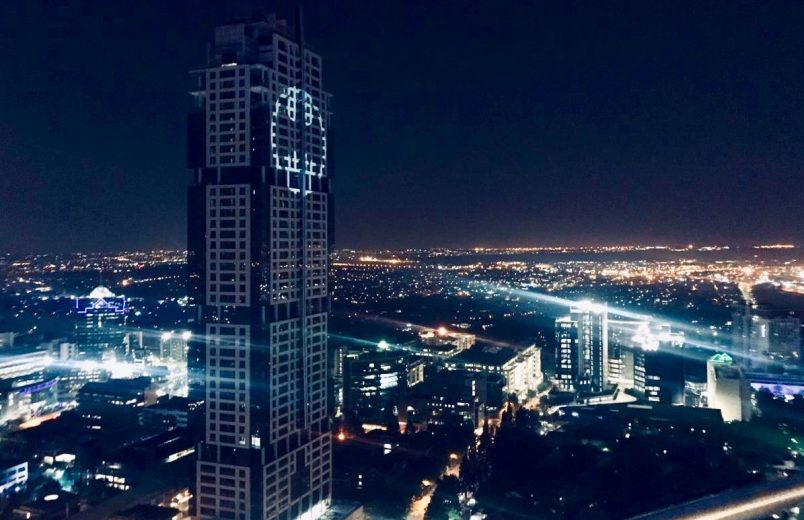 Johannesburg sky lights up for Batman Day