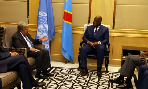 UN chief ends DR Congo trip with assurances on security front