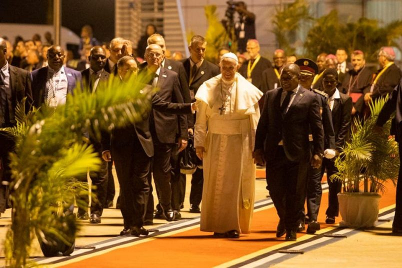 Pope Francis arrives in Mozambique