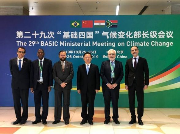 Ahead of COP25, BASIC nations reaffirm climate commitments