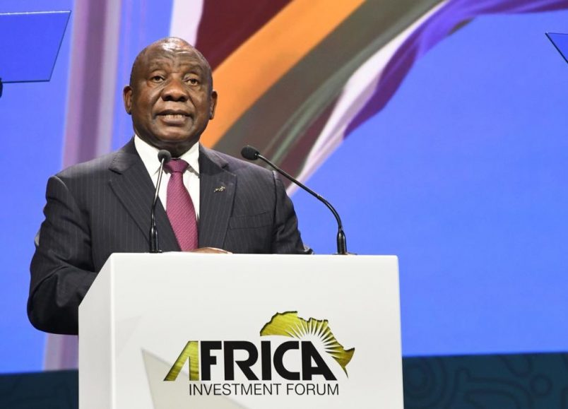 Ramaphosa kicks off Africa Investment Forum