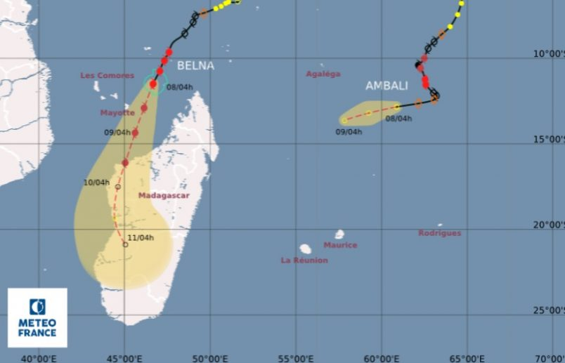 Intensifying Cyclone Belna heads for Madagascar | Africa Times