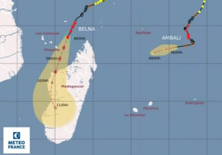 Intensifying Cyclone Belna heads for Madagascar