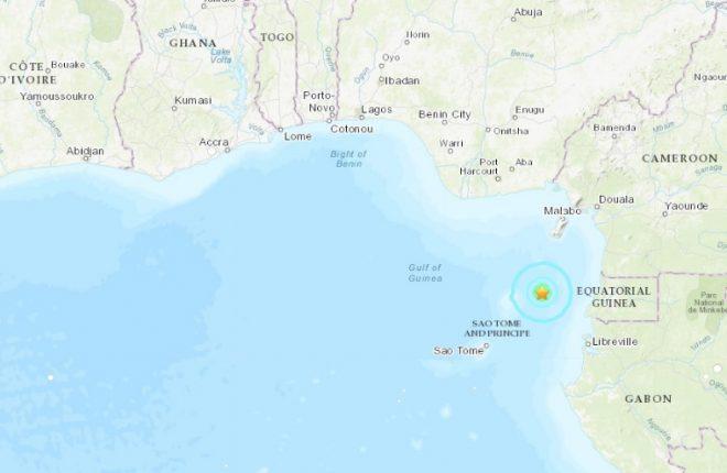 Quake felt in São Tomé and Príncipe, EG, Cameroon and Gabon