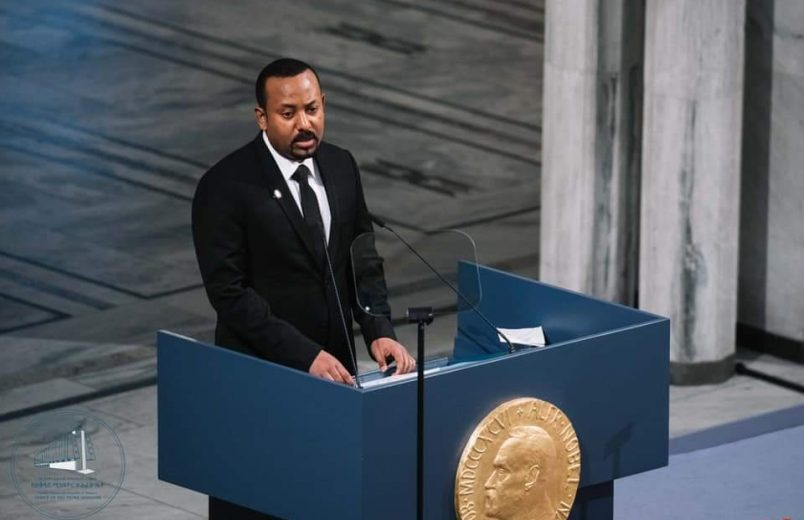 Abiy's Nobel speech draws on personal experience with war