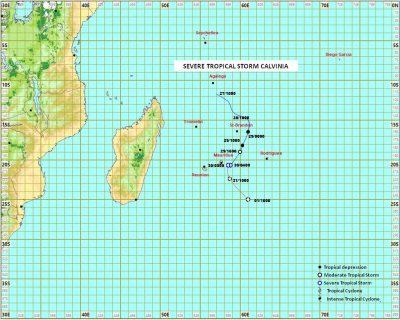 Mauritius warns of wind, rain with storm Calvinia