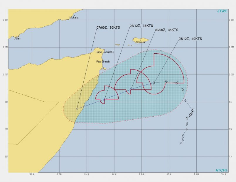 Storm Pawan heads toward Somalia coast