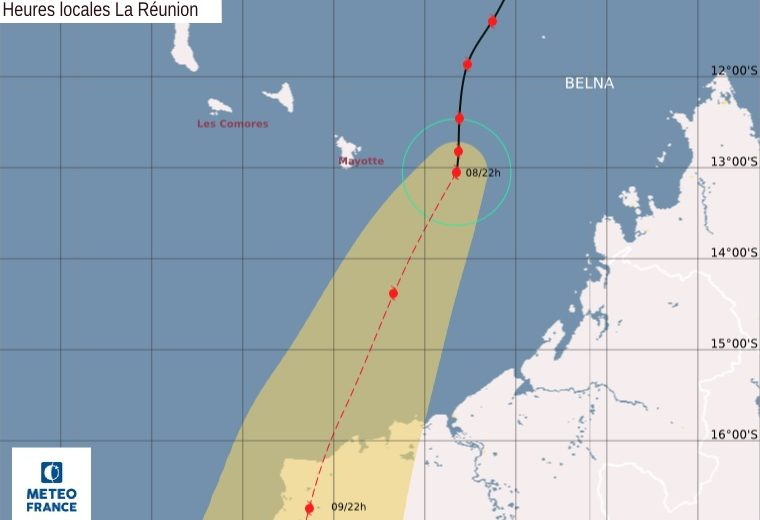 Cyclone Belna blows past Mayotte, makes a beeline for Madagascar