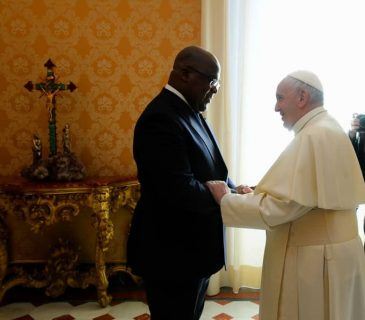 Tshisekedi meets with pope, heads to UK investment summit