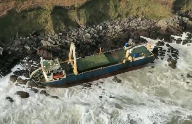 Tanzanian-flagged 'ghost ship' washes up in Ireland