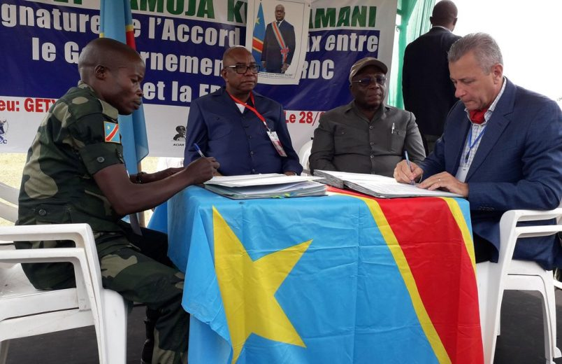 DR Congo, FRPI fighters sign peace agreement in Ituri province