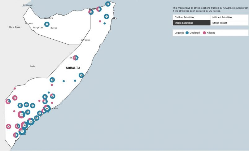 Airwars site launch tracks U.S. in Somalia, amid claims of another civilian death
