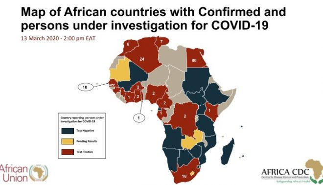 Africa records at least 159 COVID cases in 17 nations