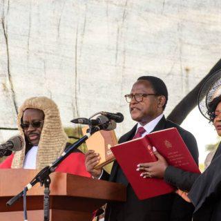 Chakwera sworn in as Malawi's president