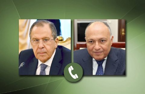 Shoukry, Lavrov call focuses on Libya ceasefire