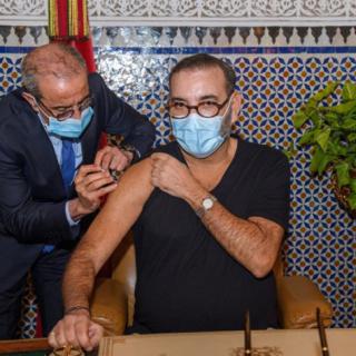 Morocco's king kicks off COVID vaccination drive